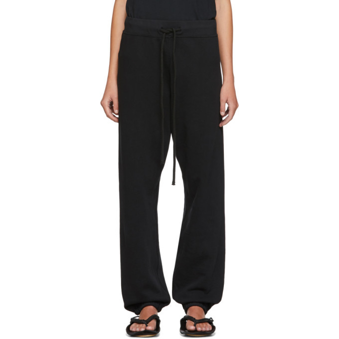 Photo: Raquel Allegra Black Fleece Lounge Pants