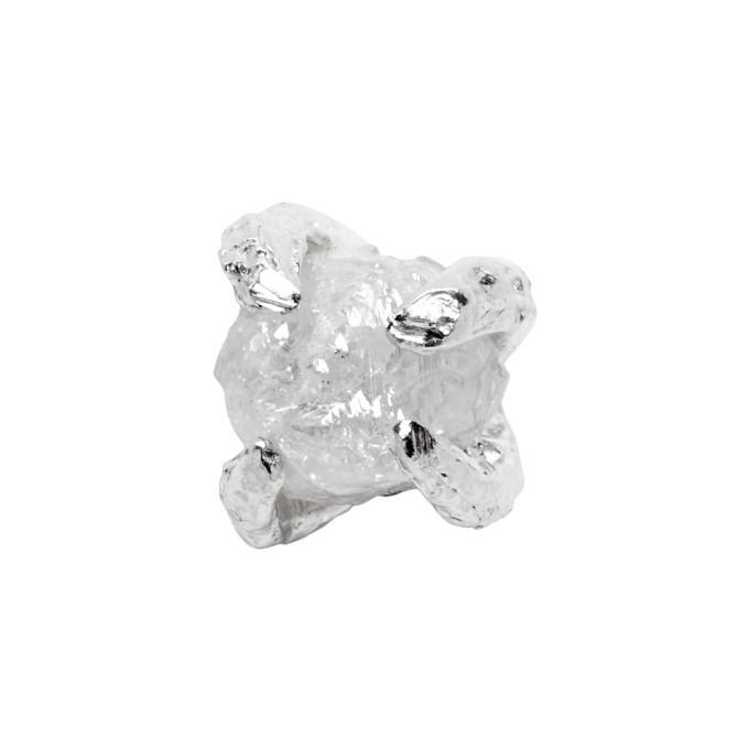 Photo: Pearls Before Swine Silver Single Raw Diamond Earring