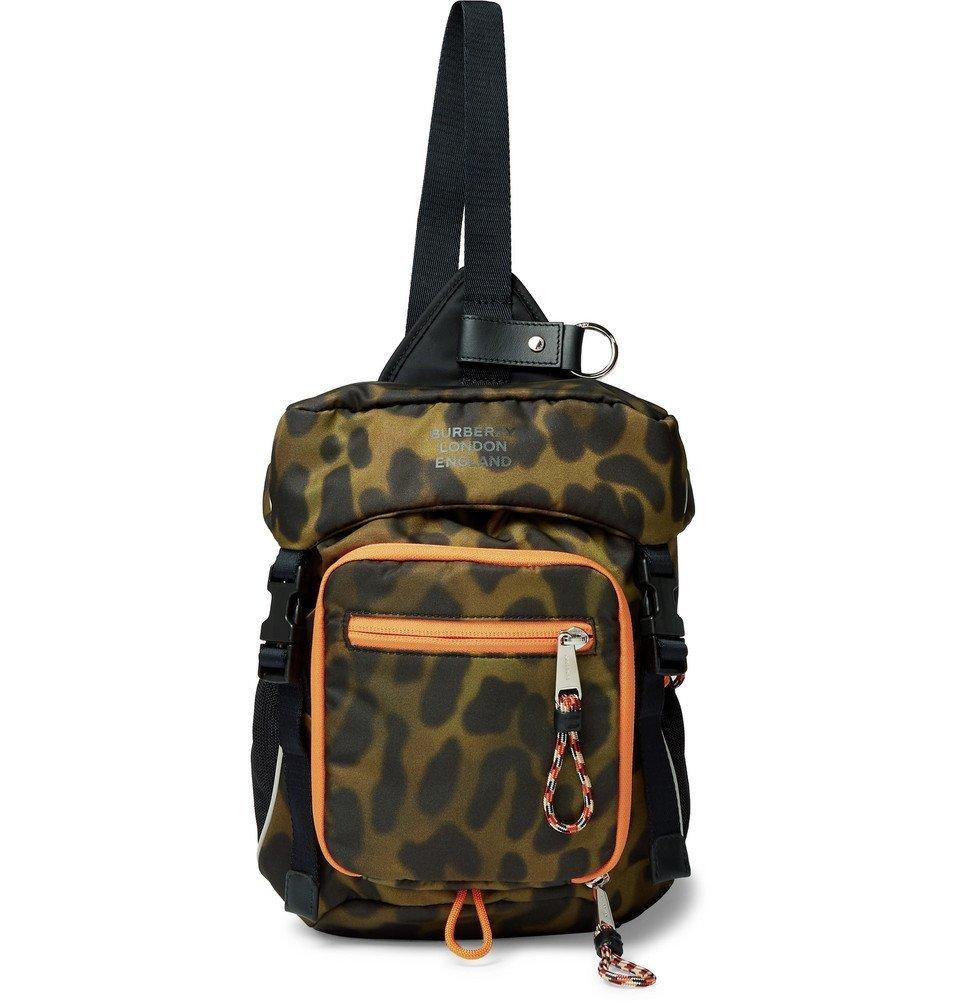 Photo: Burberry - Animal-Print Nylon Cross-Body Backpack - Light green