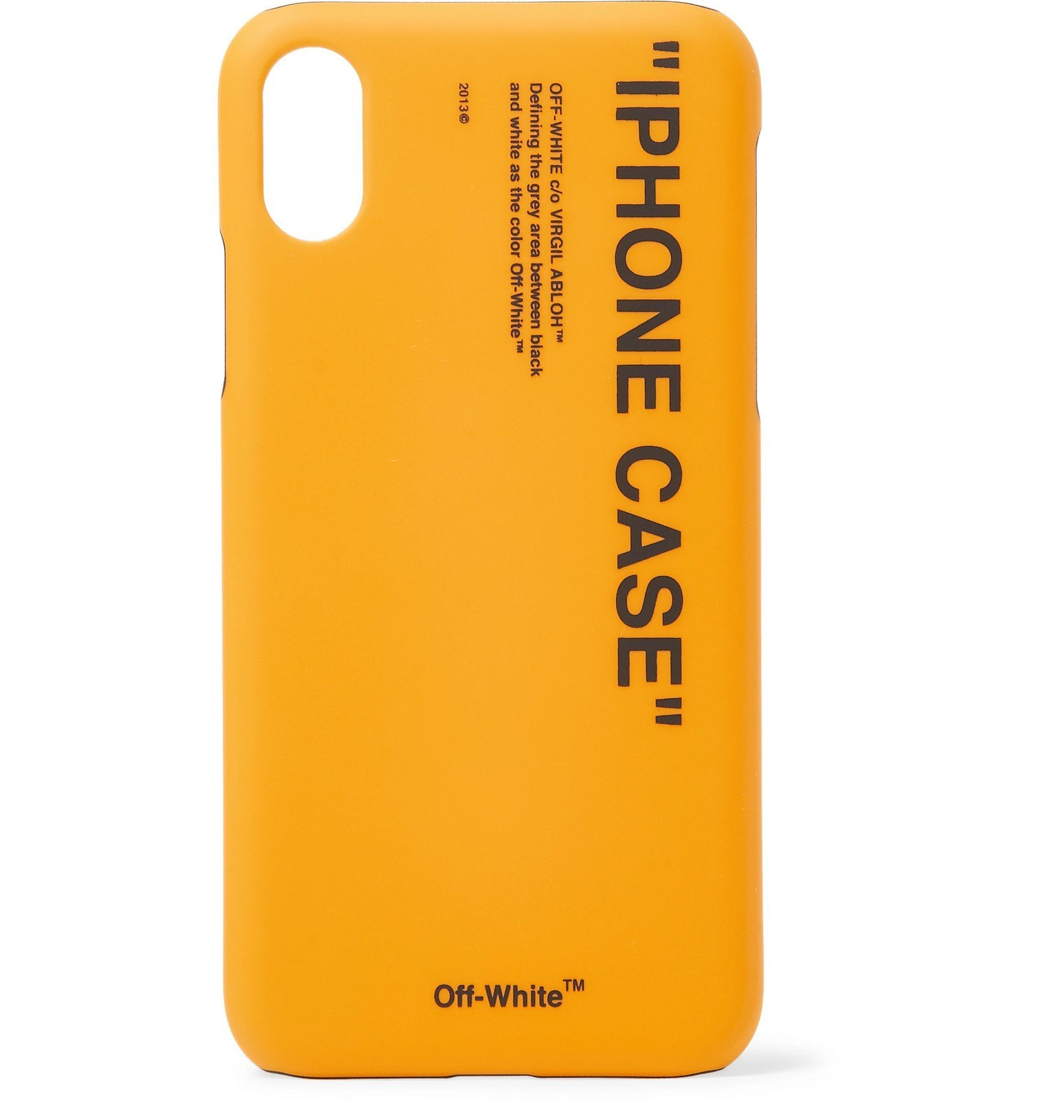 Photo: Off-White - Printed iPhone X Case - Yellow