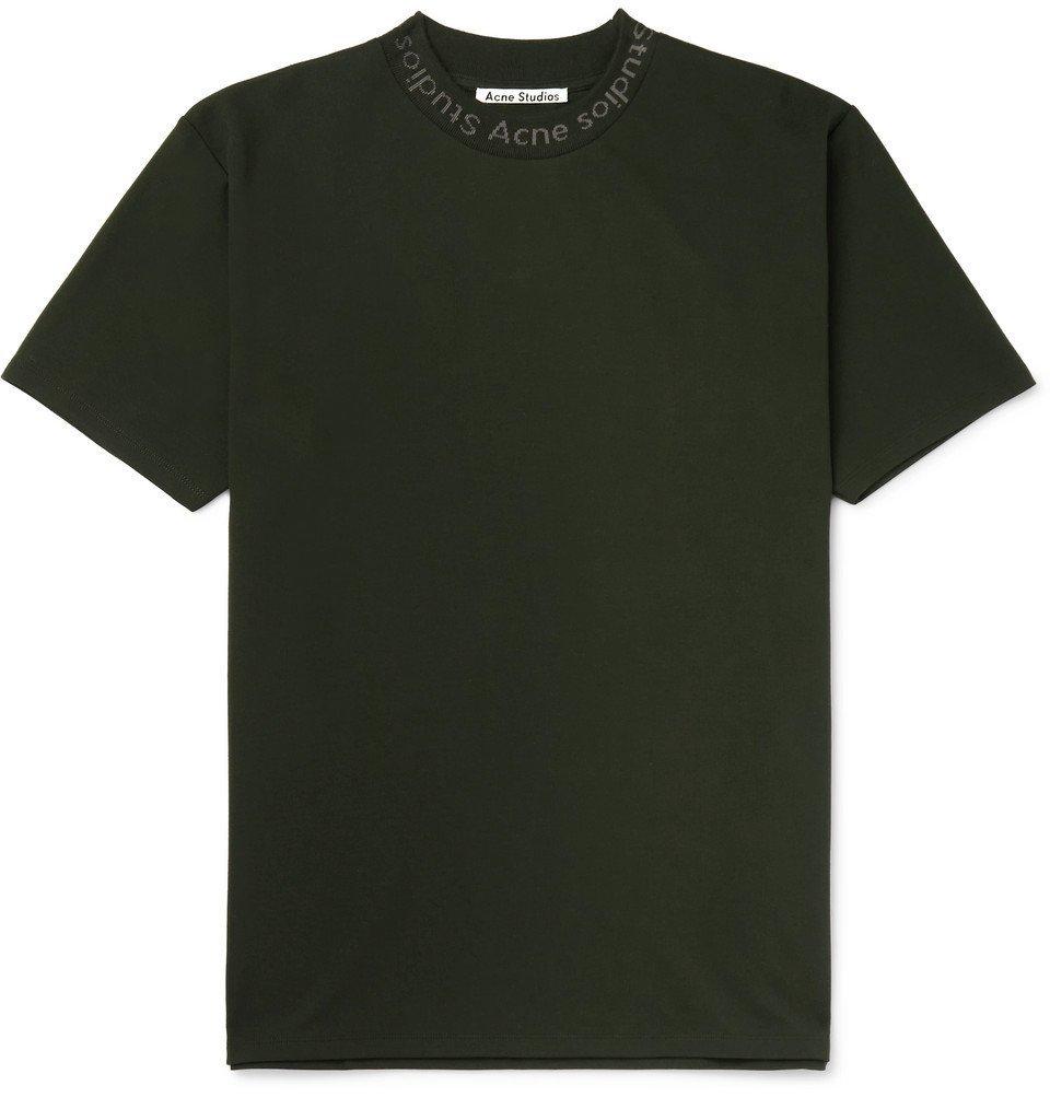 Acne Studios - Navid Logo-Print Stretch-Jersey T-Shirt - Green