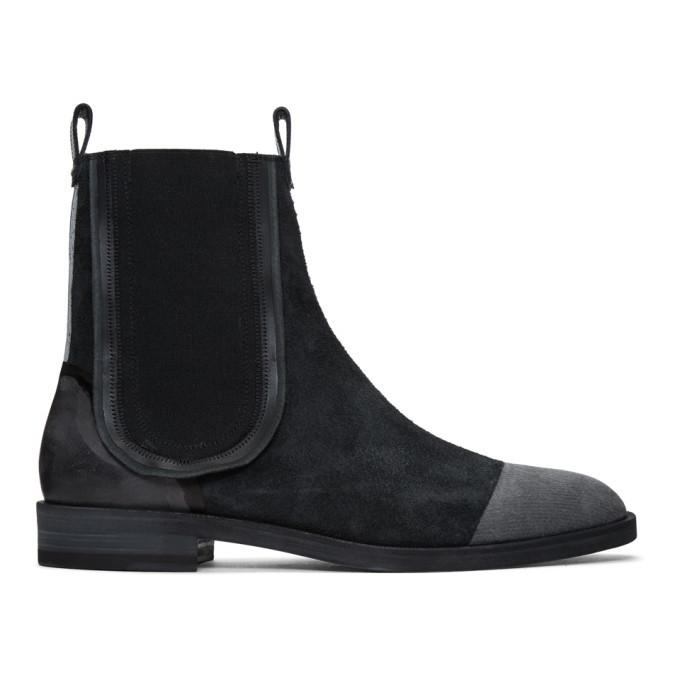Photo: Maison Margiela Black Suede Deconstructed Chelsea Boots