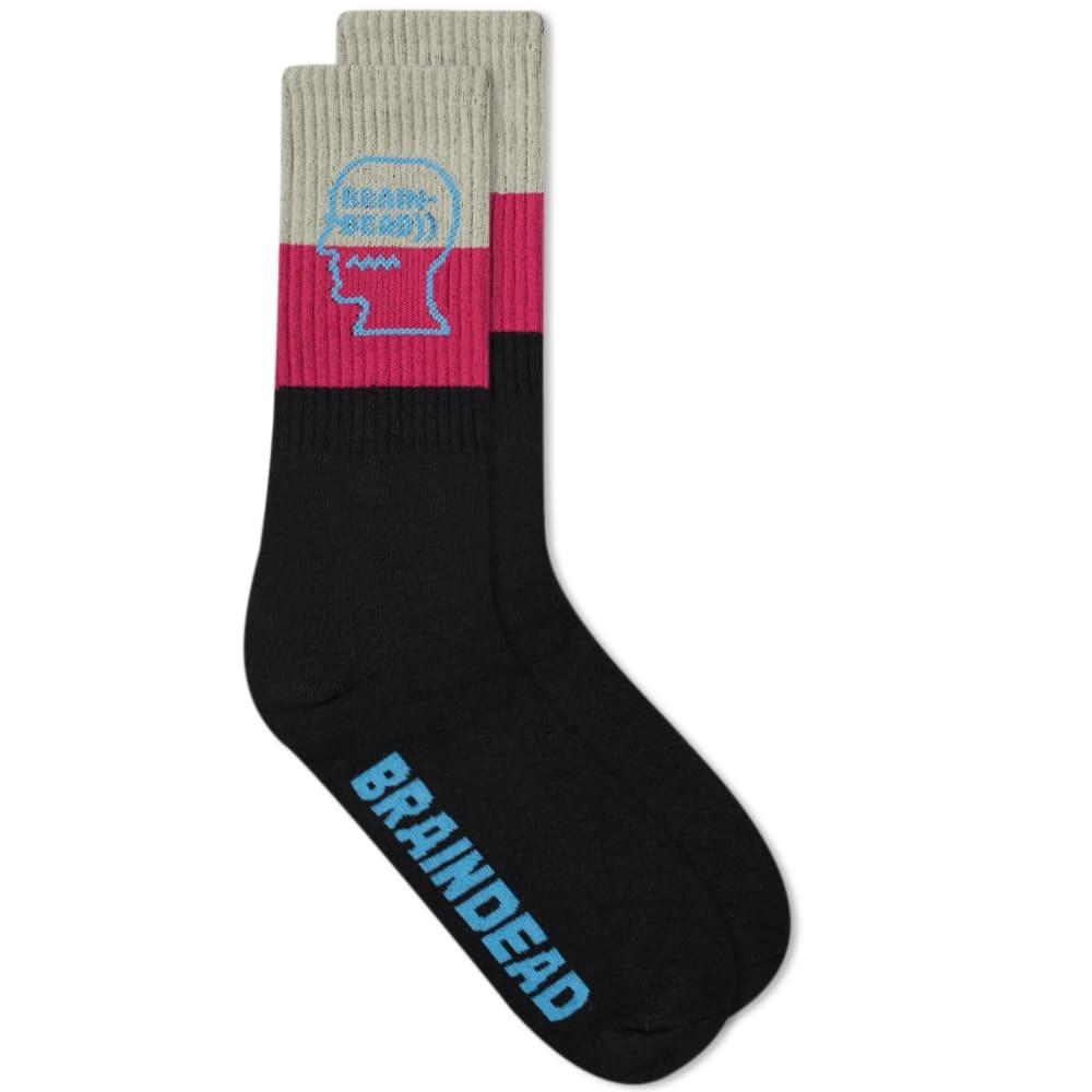 Photo: Brain Dead Striped Logo Socks