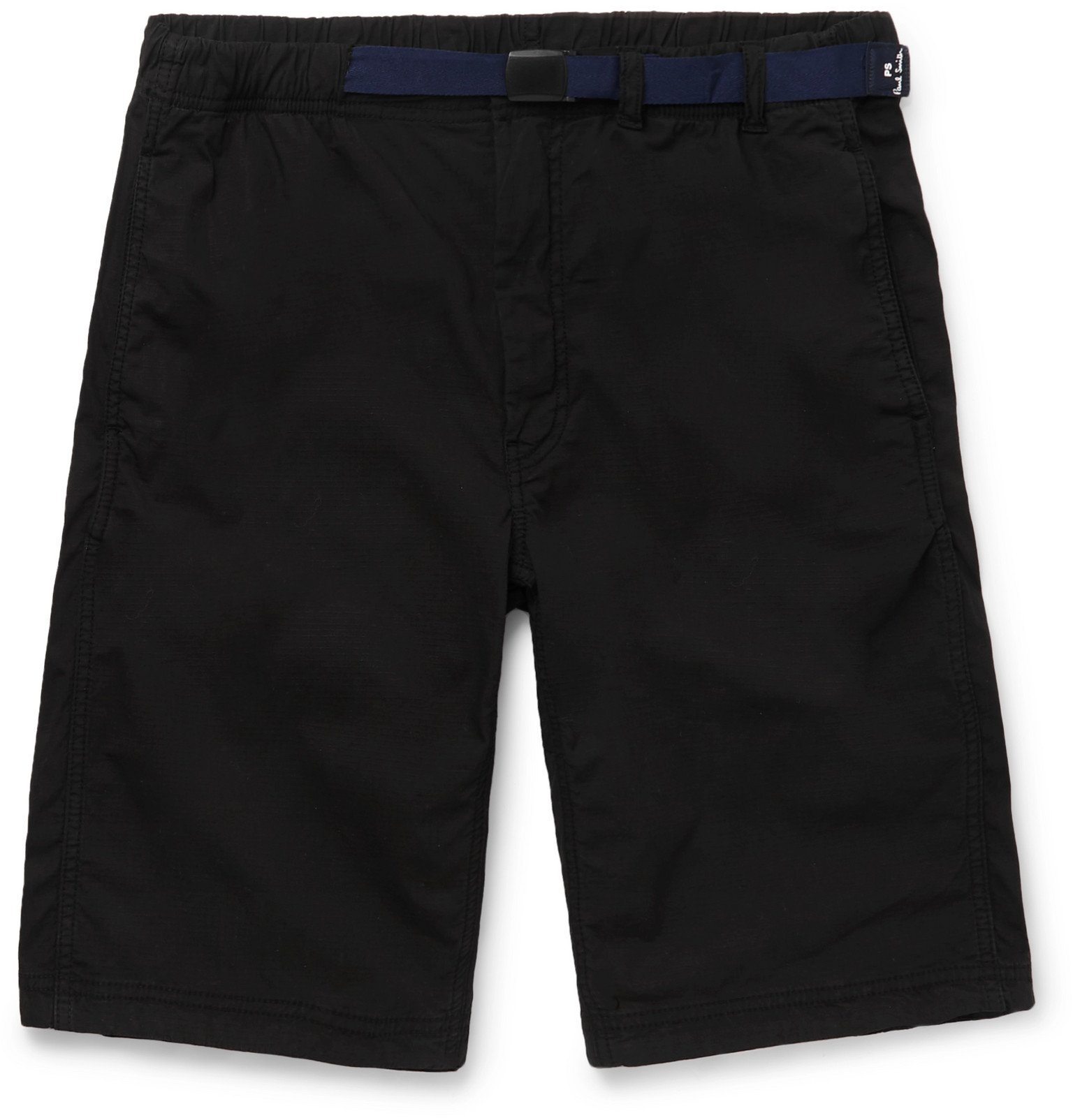 Photo: PS Paul Smith - Belted Stretch-Ripstop Shorts - Black