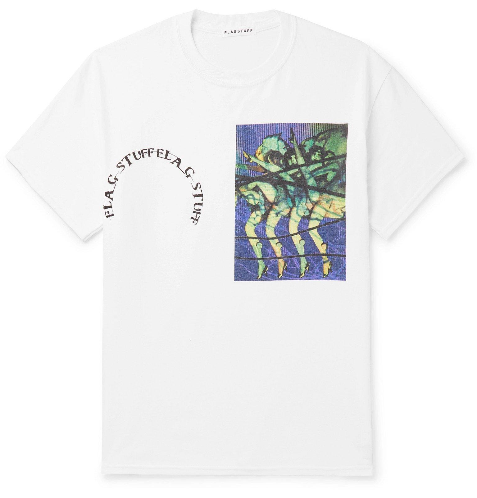 Photo: Flagstuff - Printed Cotton-Jersey T-Shirt - White