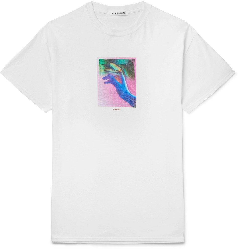 Photo: Flagstuff - Printed Cotton-Jersey T-Shirt - White