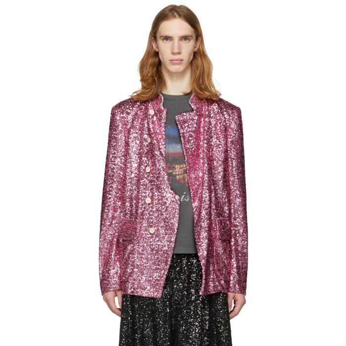 Photo: Comme des Garçons Homme Plus Pink Sequin Blazer