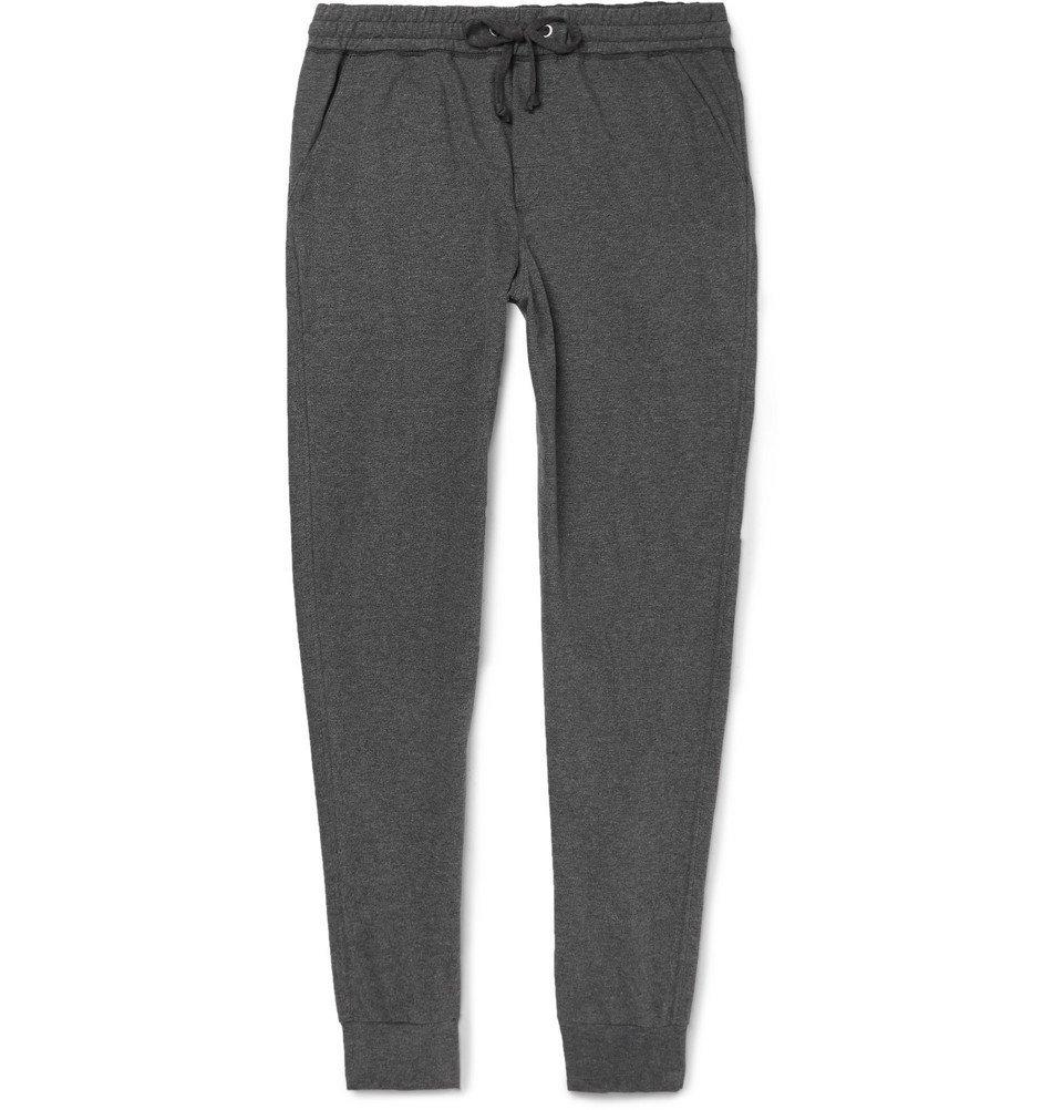 Schiesser - Hugo Tapered Mélange Cotton-Jersey Sweatpants - Men - Gray
