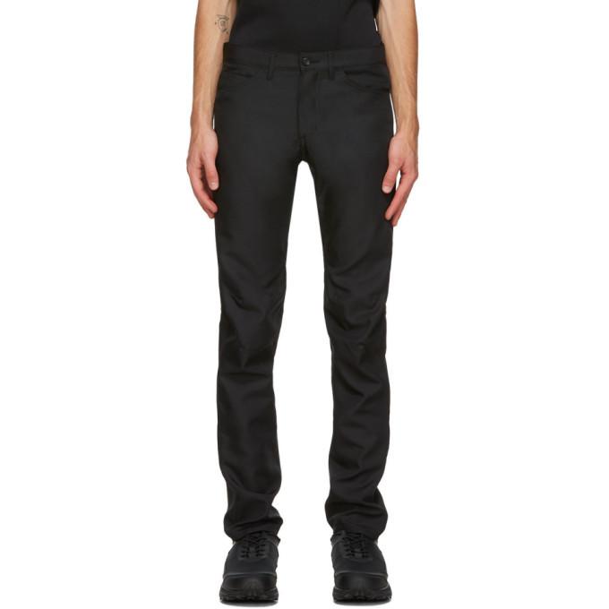 Comme des Garcons Homme Plus Black Gabardine Trousers