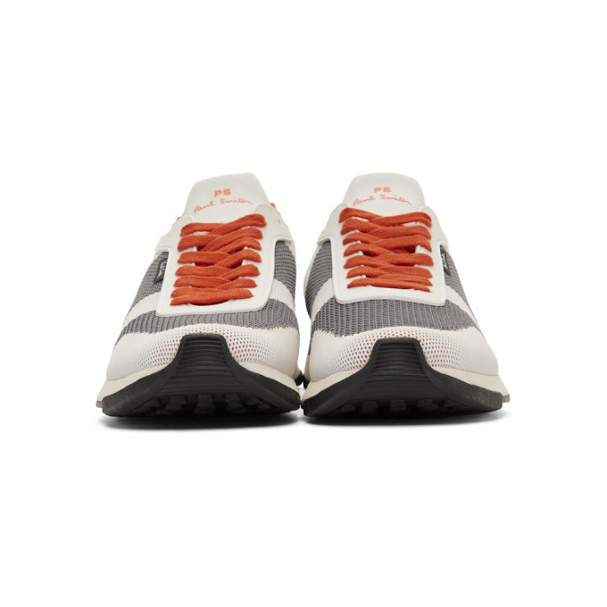 PS by Paul Smith White Recycled Knit Rappid Sneakers