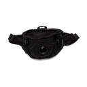 C.P. Company Black Nylon B Garment-Dyed Crossbody Pouch