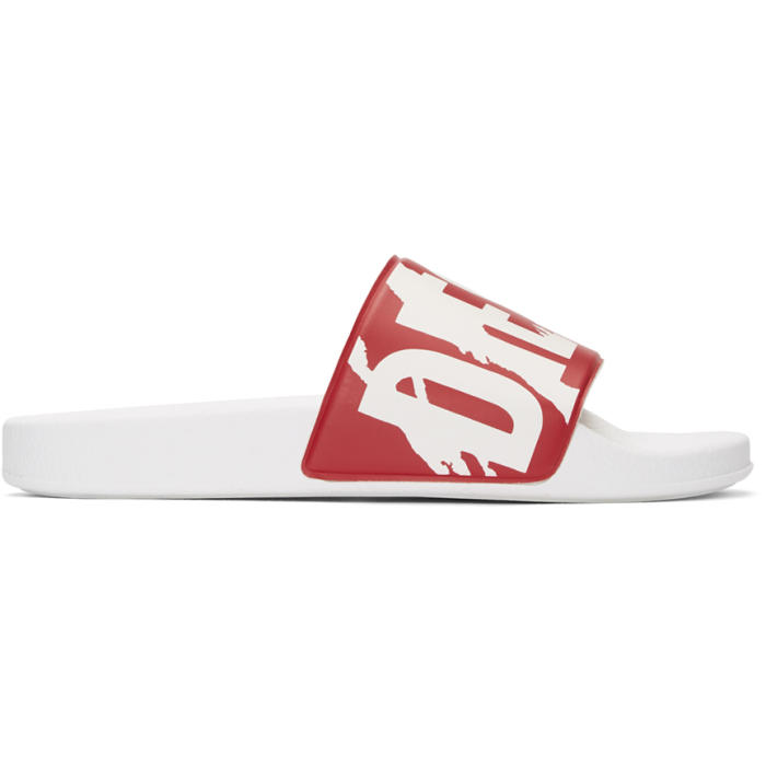 Photo: Diesel Red and White Sa-Maral Slides