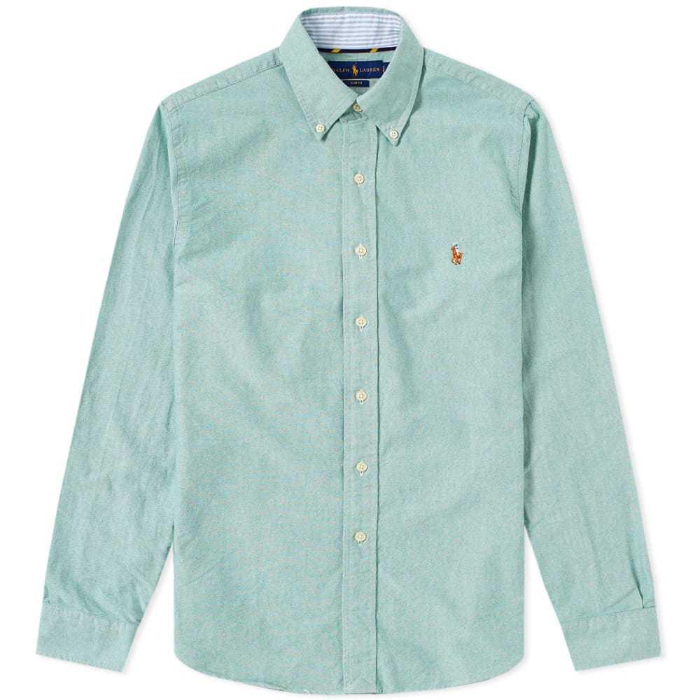 Photo: Polo Ralph Lauren Slim Fit Button Down Oxford Shirt Green