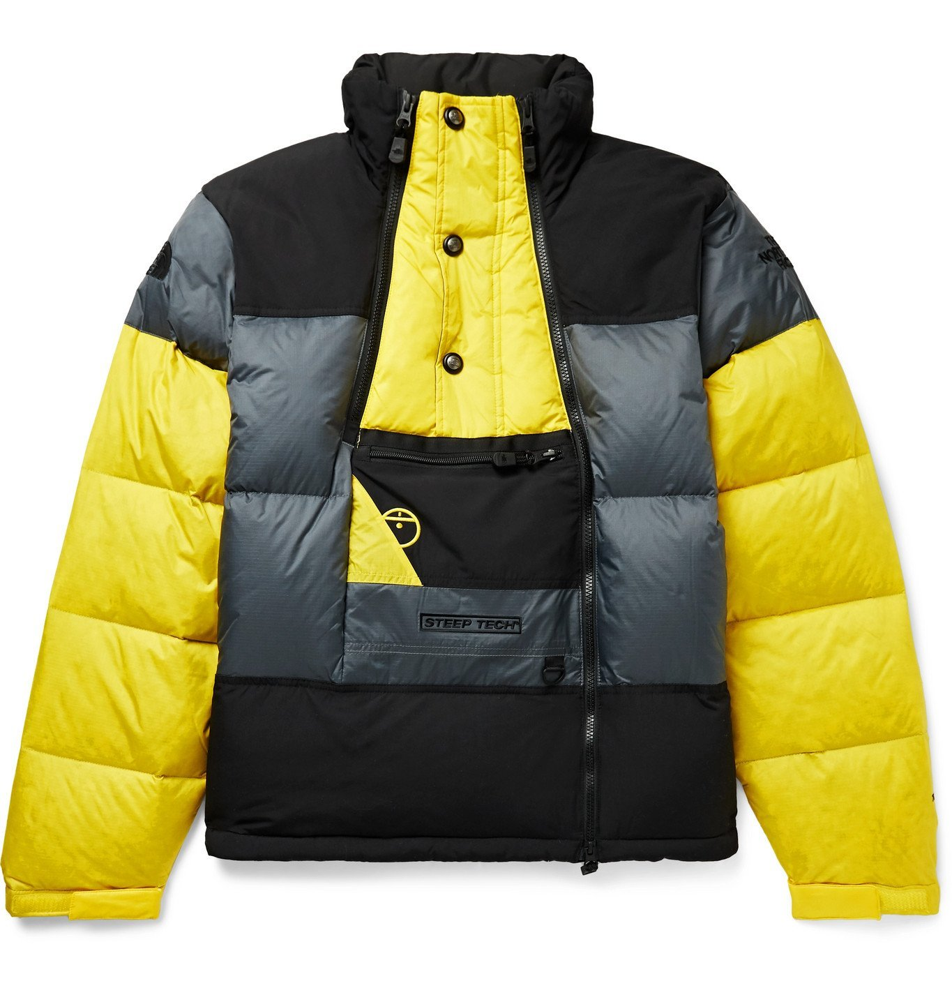 Photo: The North Face - Steep Tech Colour-Block Quilted Nylon-Ripstop Down Jacket - Yellow