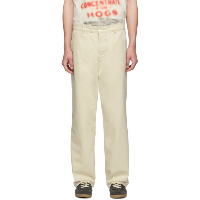 Photo: Our Legacy Off-White Carpenter Trousers