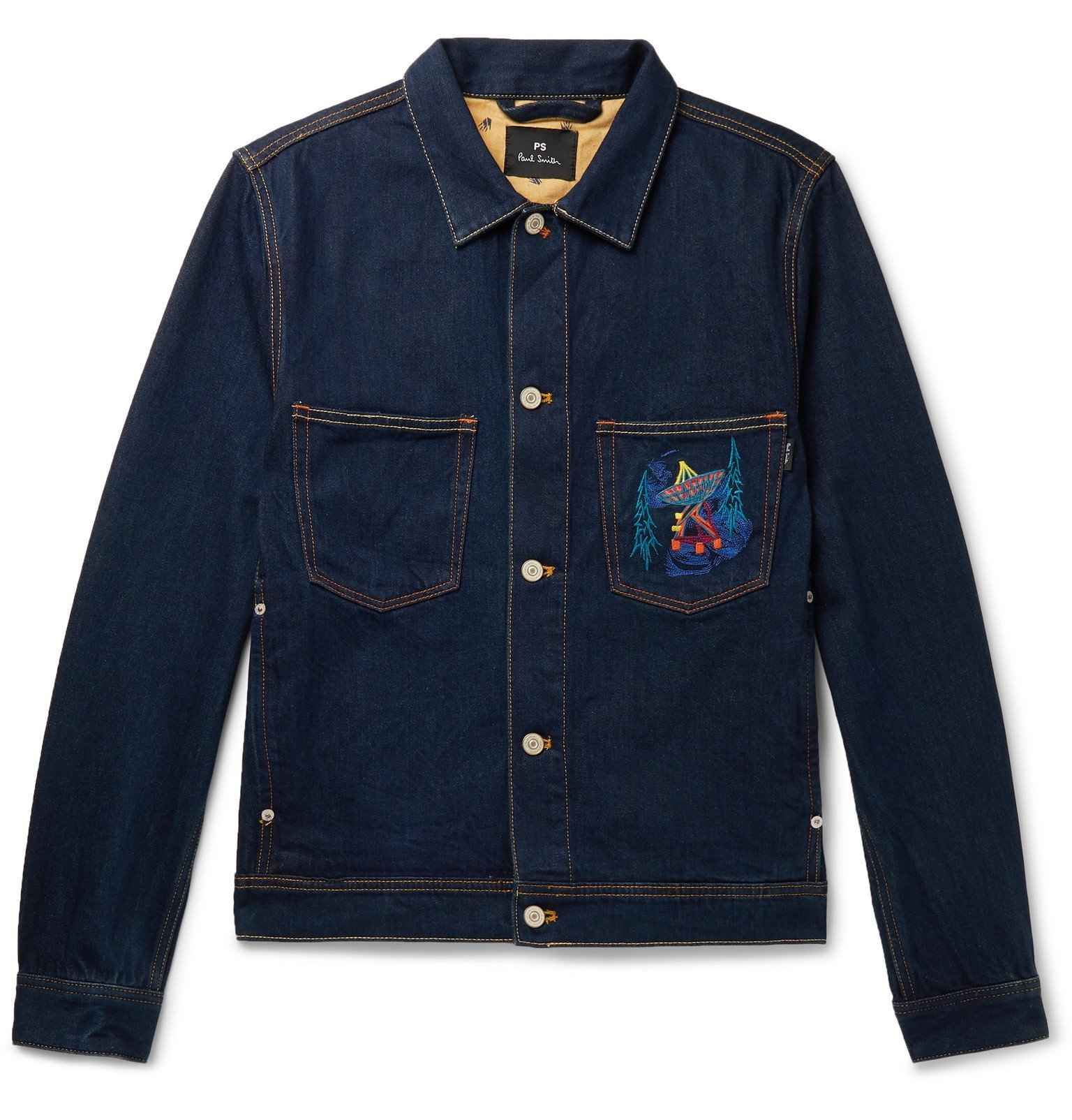 Photo: PS Paul Smith - Embroidered Denim Jacket - Blue