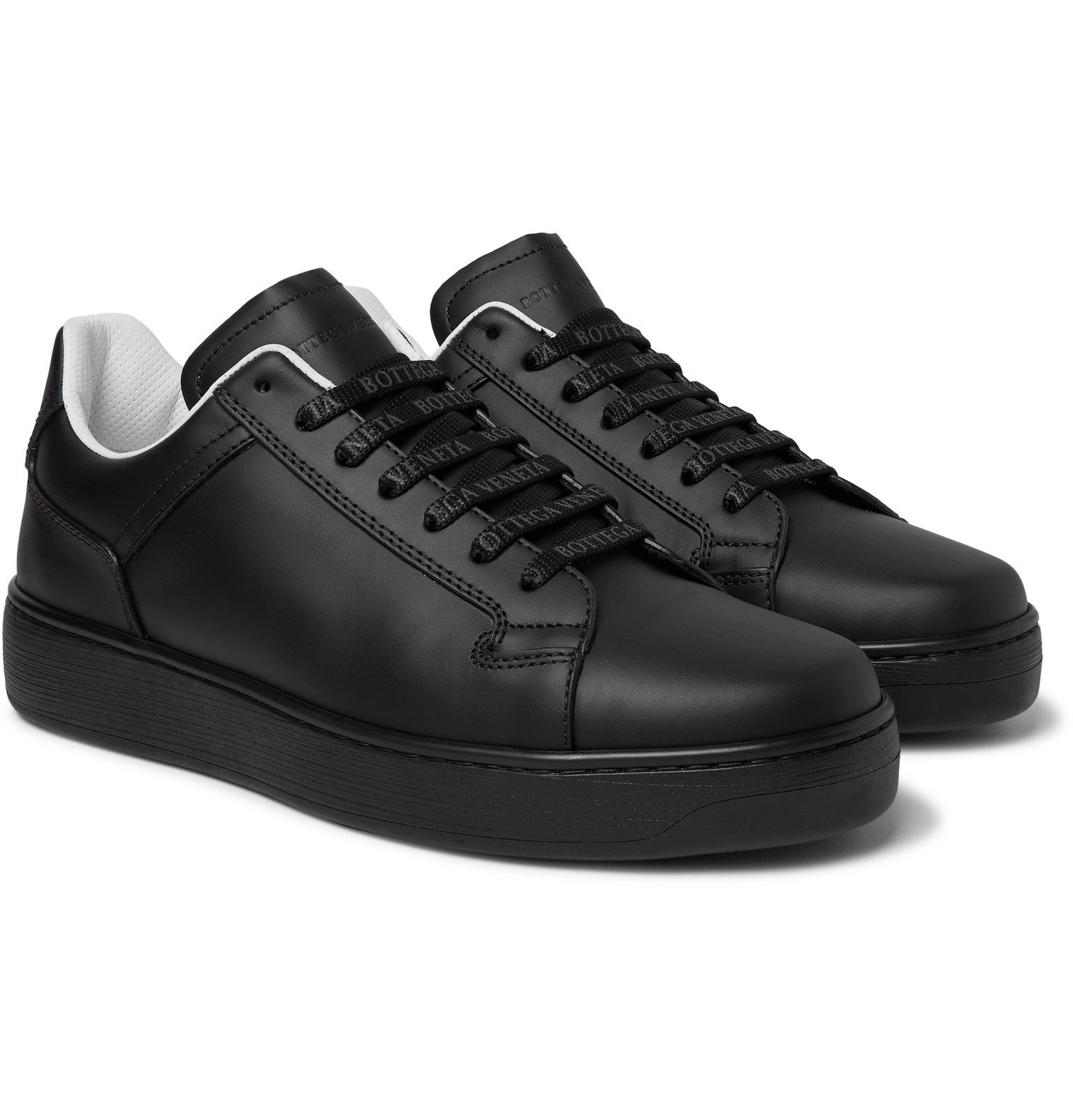 Photo: Bottega Veneta - Leather Sneakers - Black