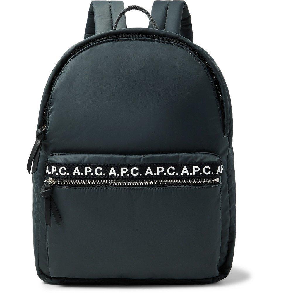 Photo: A.P.C. - Logo-Print Nylon Backpack - Anthracite