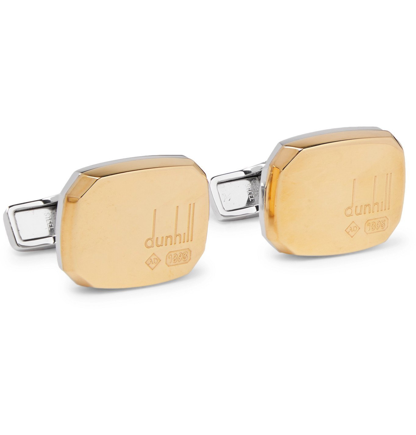 DUNHILL - Gold-Plated Sterling Silver Cufflinks - Gold