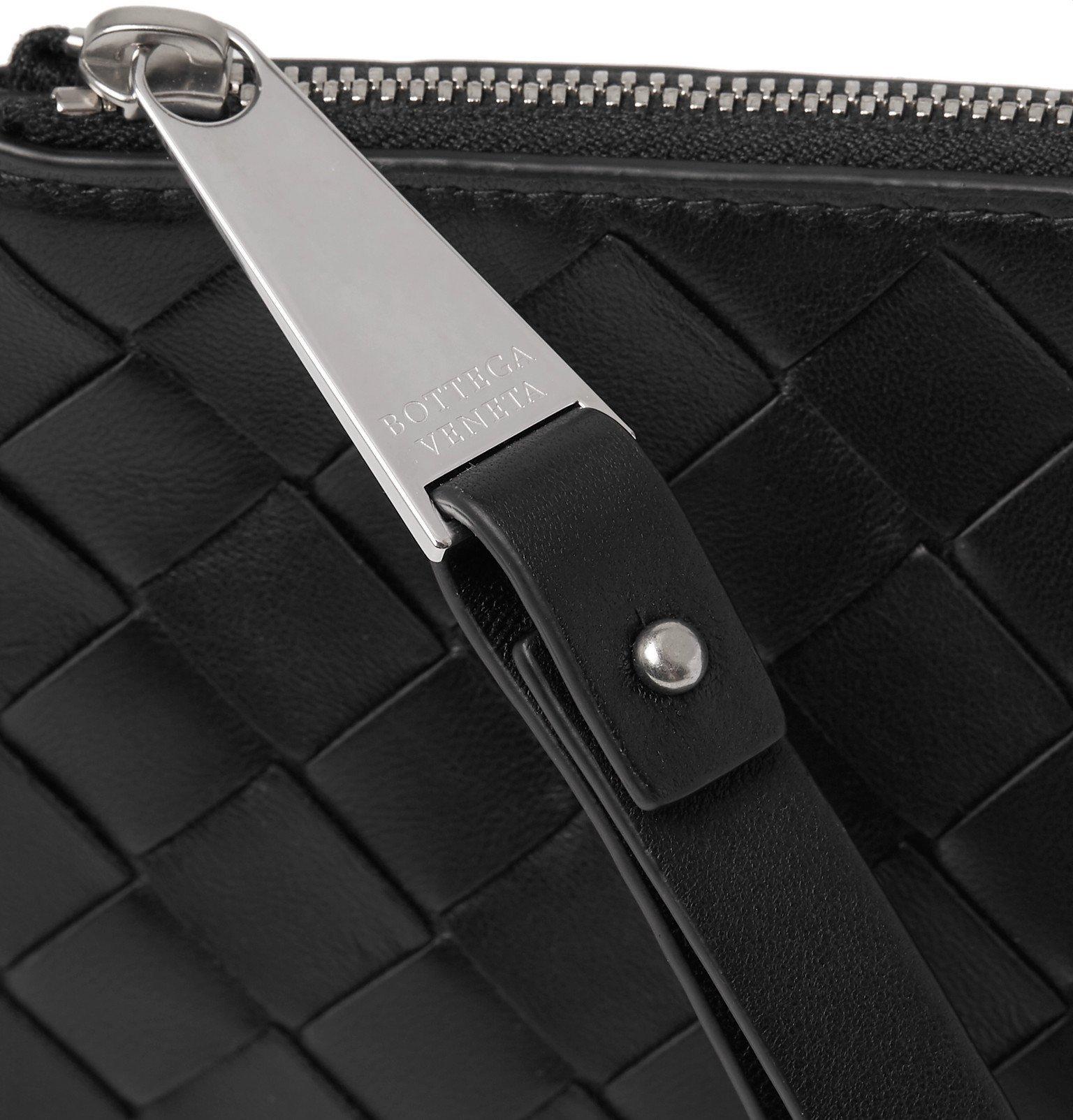 Bottega Veneta - Small Intrecciato Leather Pouch - Black