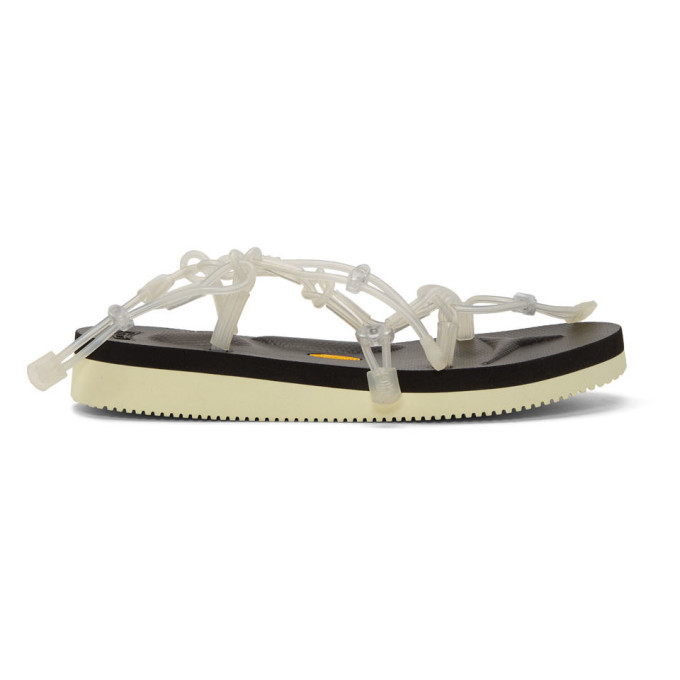Photo: Fumito Ganryu SSENSE Exclusive Black and White Suicoke Edition Tube Sandals