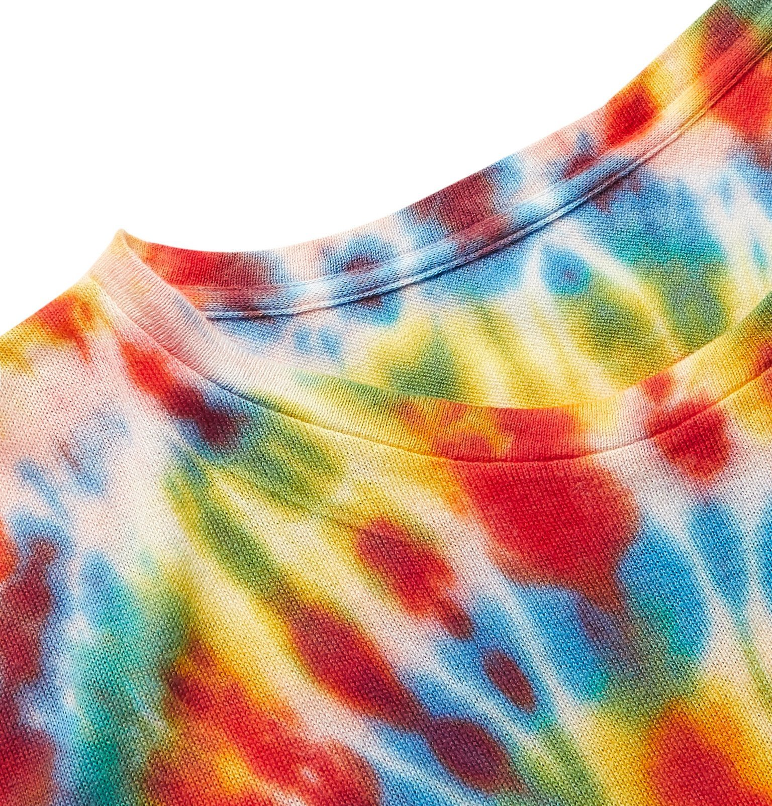 The Elder Statesman - Bullseye Tie-Dyed Cotton and Cashmere-Blend T-Shirt - Multi