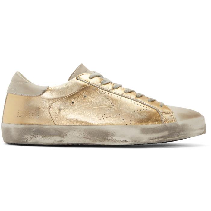 Golden Goose Gold Superstar Skate