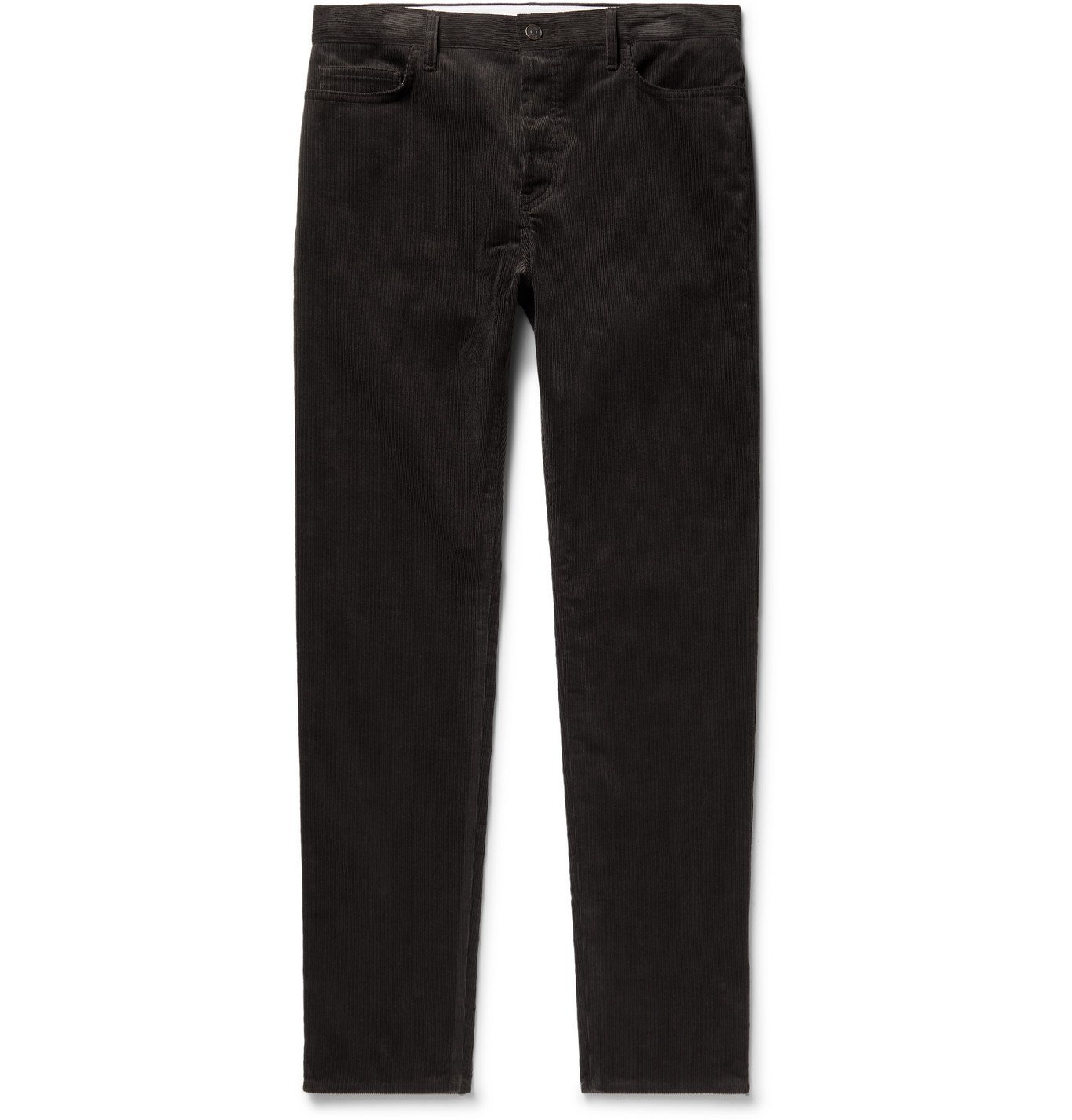 Photo: THE ROW - Irwin Slim-Fit Cotton-Corduroy Trousers - Brown