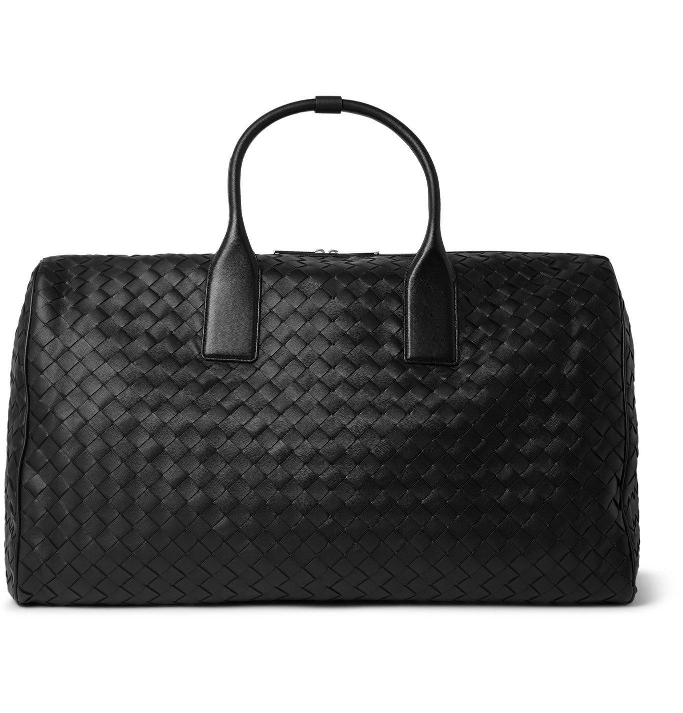 Photo: Bottega Veneta - Intrecciato Leather Holdall - Black