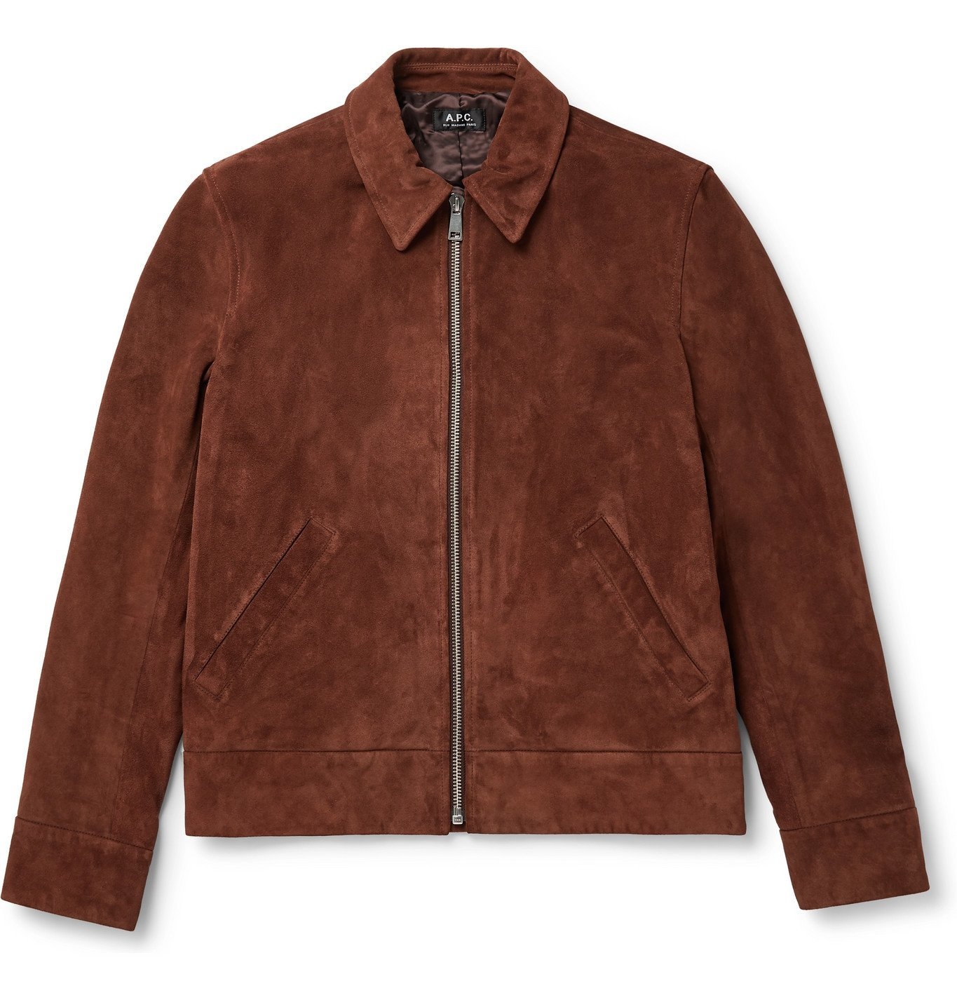 Photo: A.P.C. - Frene Suede Jacket - Brown