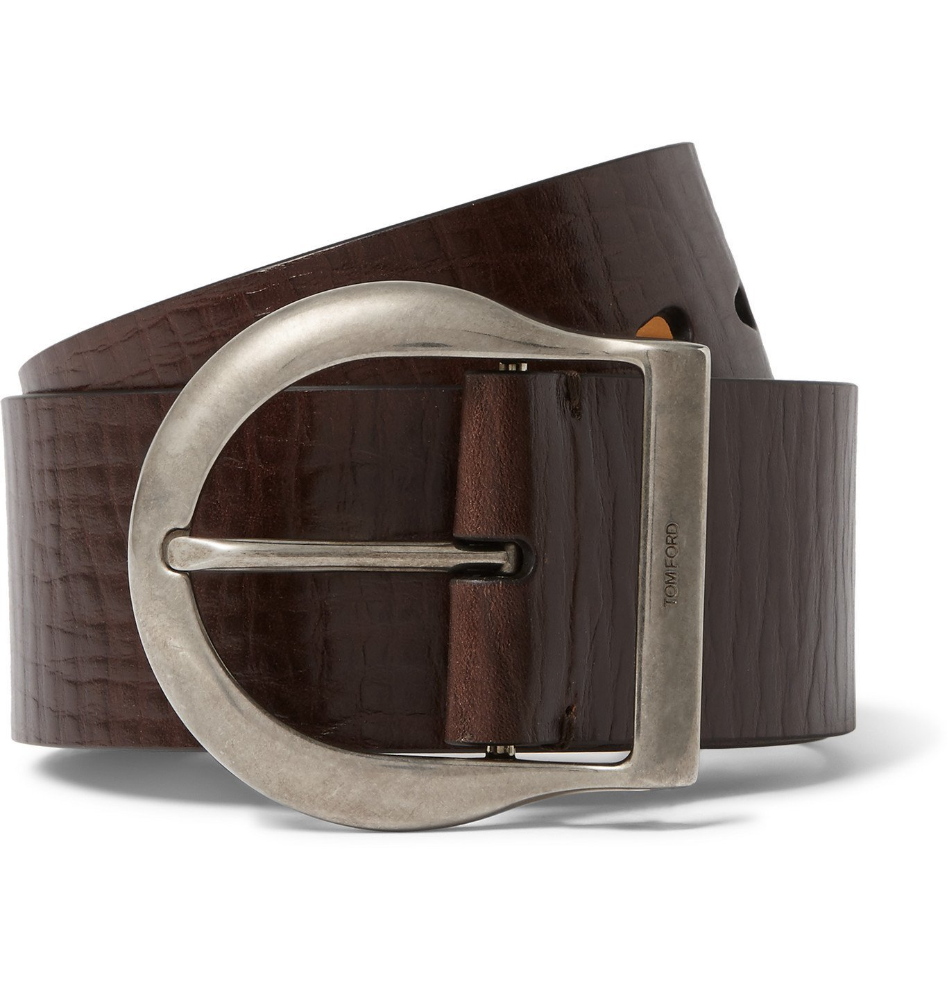 Photo: TOM FORD - 5cm Brown Leather Belt - Brown
