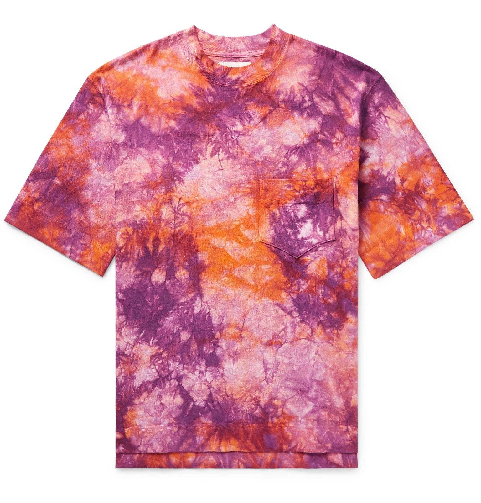 Photo: Nicholas Daley - Tie-Dyed Cotton-Jersey T-Shirt - Orange
