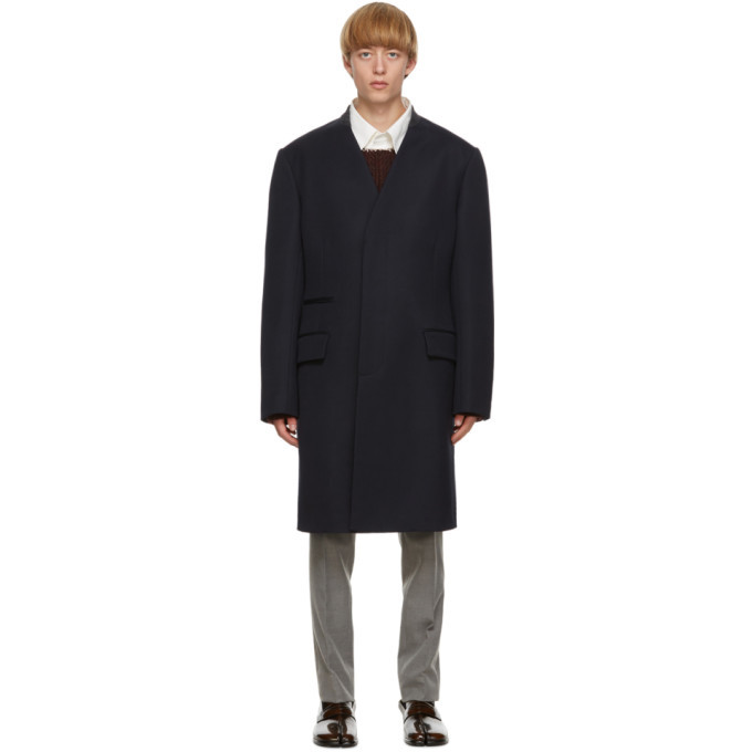 Photo: Maison Margiela Navy Cavalry Coat