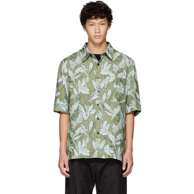 Photo: Lanvin Green Oversized Print Shirt