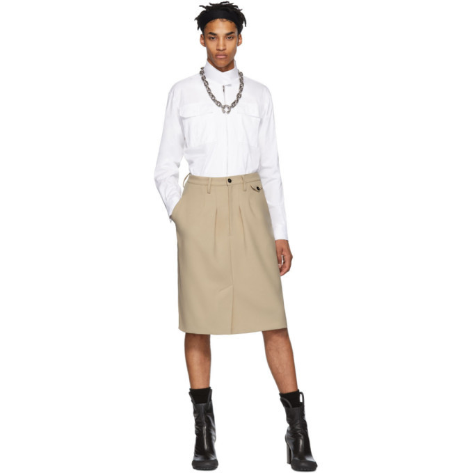 Photo: Random Identities Beige Chinos Skirt