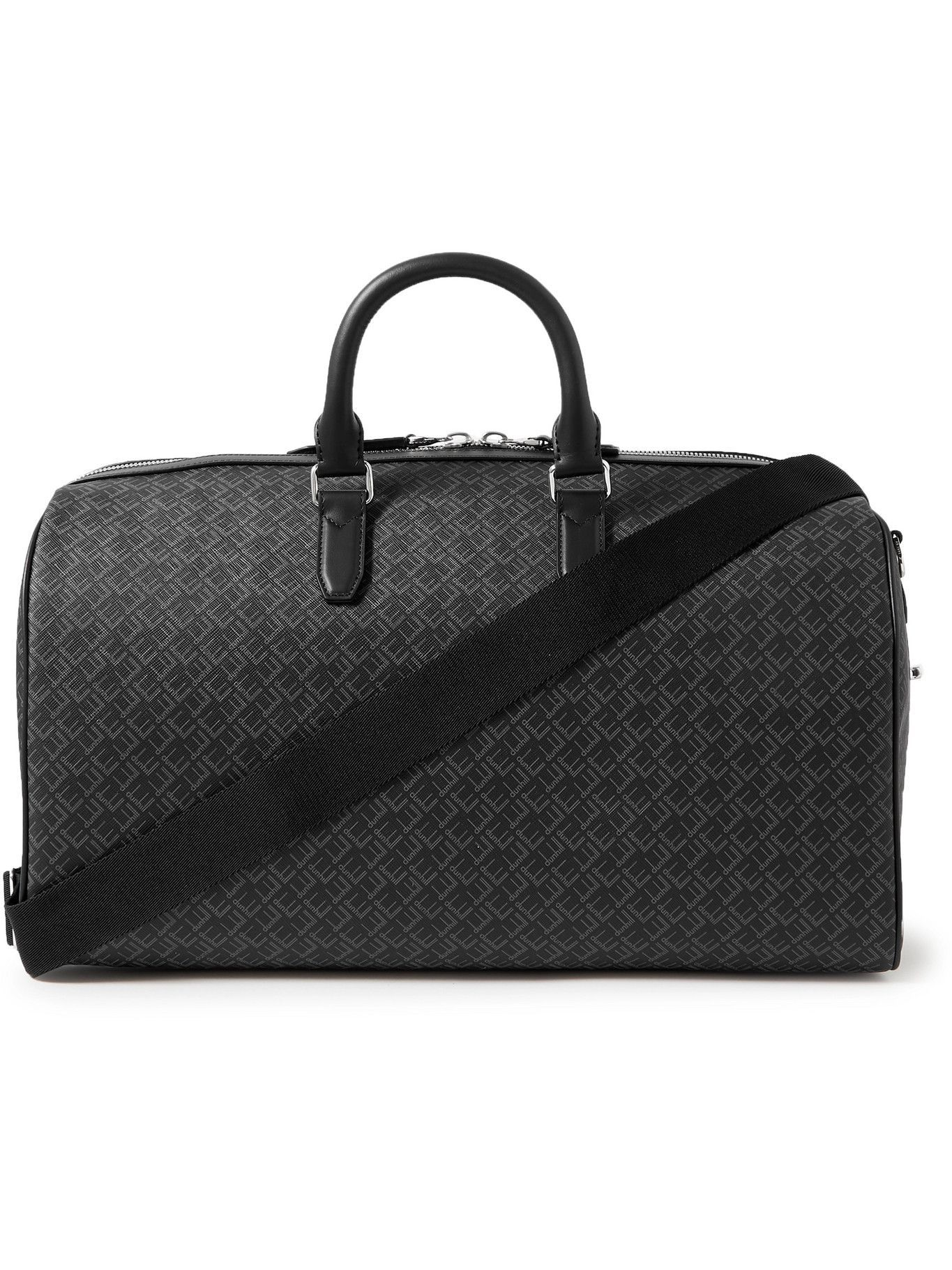 Dunhill - Leather-Trimmed Logo-Print Coated-Canvas Holdall
