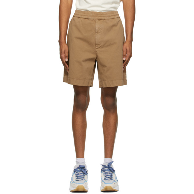 Photo: Acne Studios Brown Cotton Twill Shorts