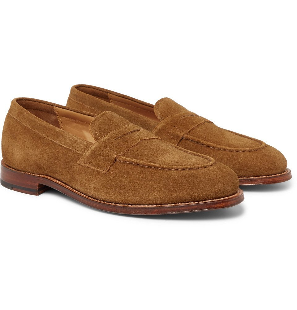 Photo: Grenson - Suede Penny Loafers - Brown