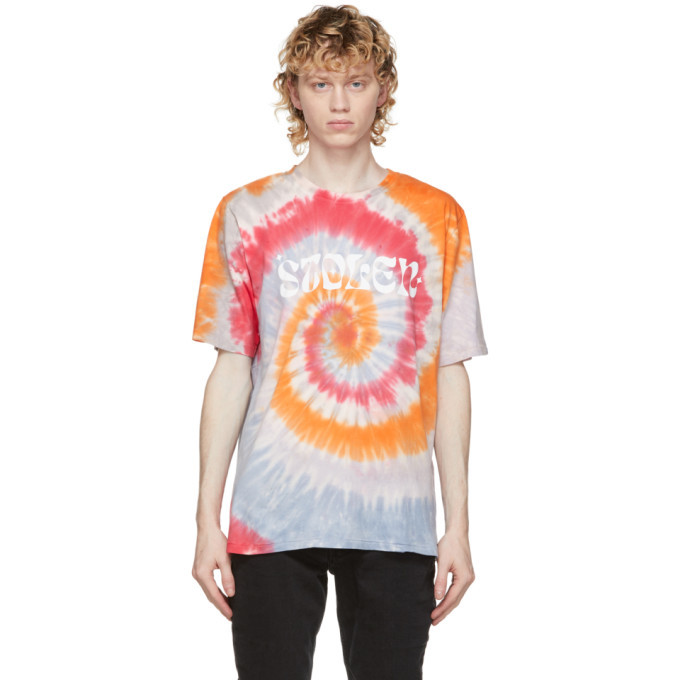 Photo: Stolen Girlfriends Club Multicolor Logo Tie-Dye T-Shirt