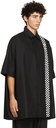 Raf Simons Black Fred Perry Edition Oversized Checkerboard Shirt