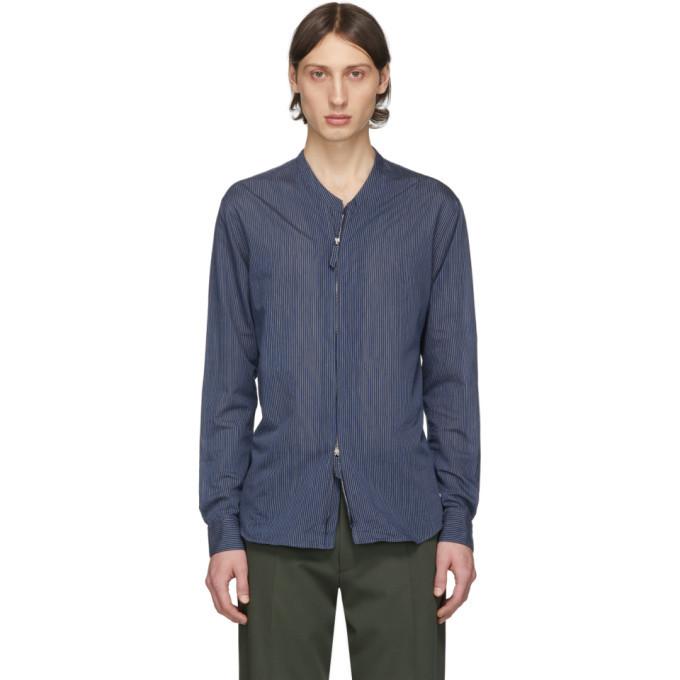 Photo: Giorgio Armani Blue Mini Stripe Shirt