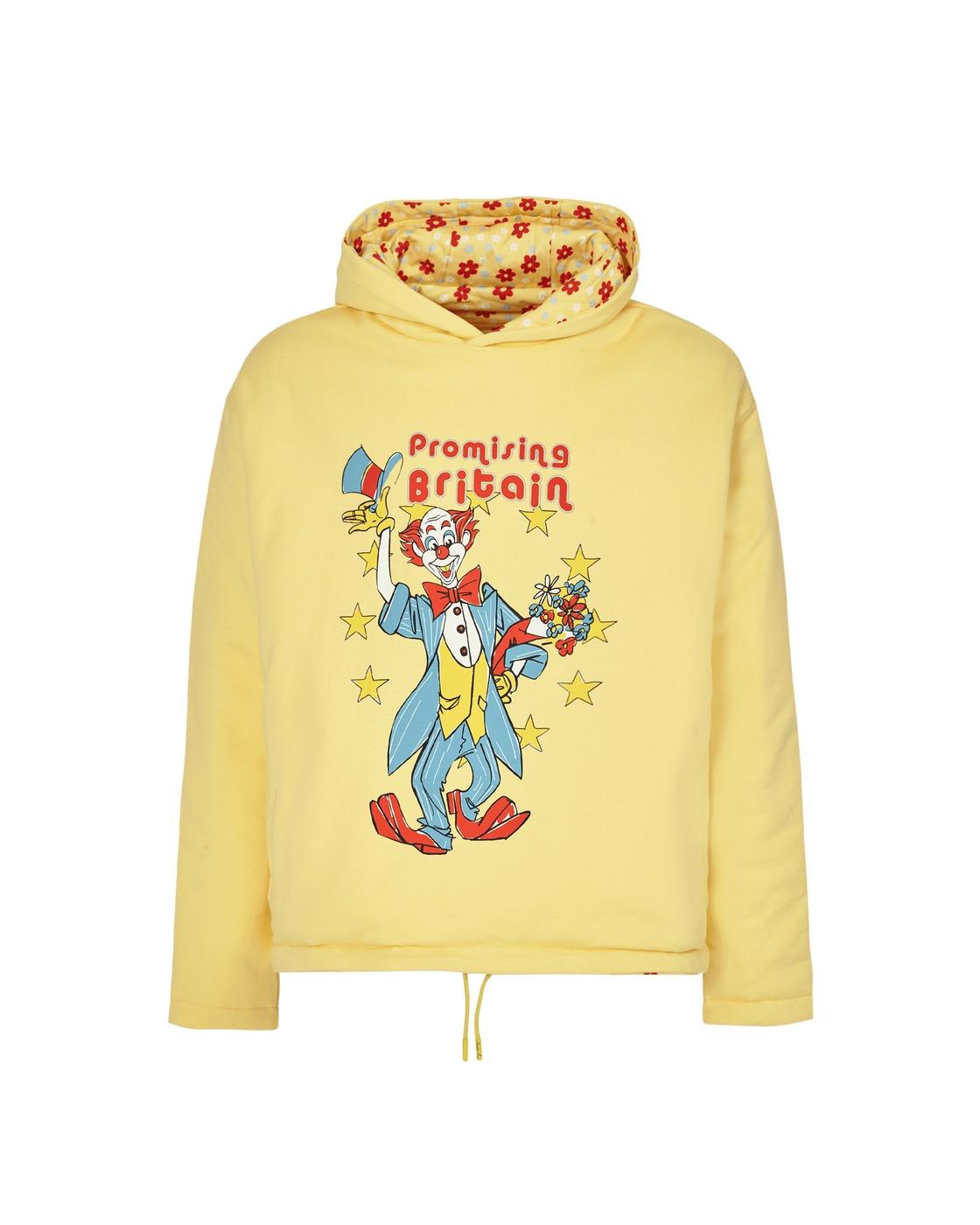 Photo: Martine Rose Reversible Clown Artwork Hooded Sweatshirt Yellow
