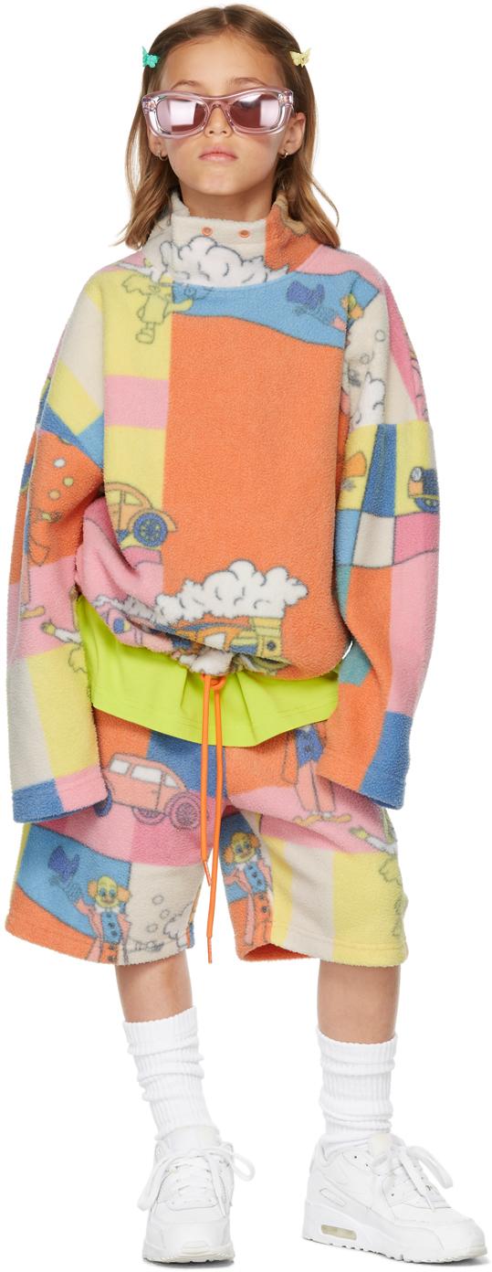Photo: Martine Rose SSENSE Exclusive Kids Multicolor Fleece Barambo Shorts