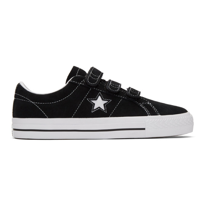 Photo: Converse Black Suede One Star Pro Sneakers