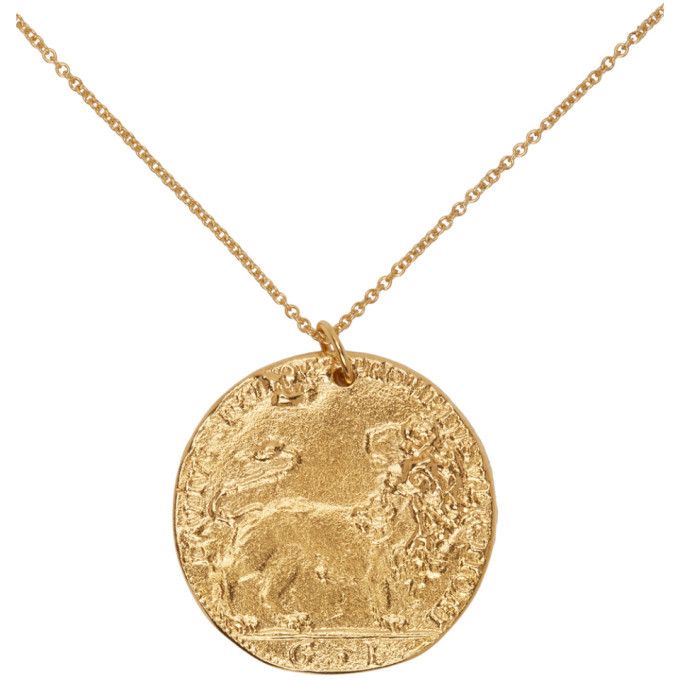 Alighieri Gold The Leone Medallion Necklace