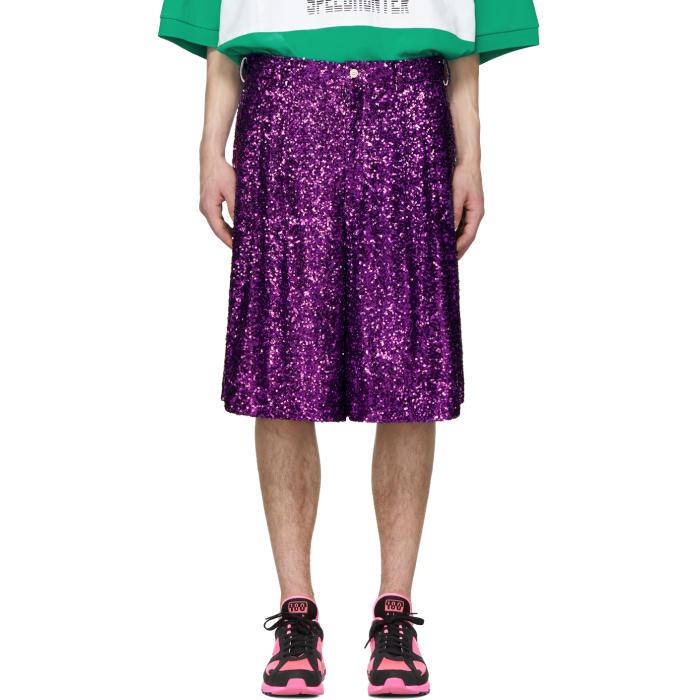 Photo: Comme des Garçons Homme Plus Purple Sequin Shorts