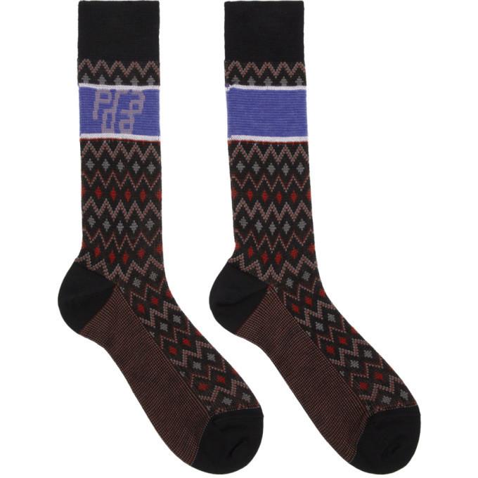 Photo: Prada Black Wool Chevron Socks