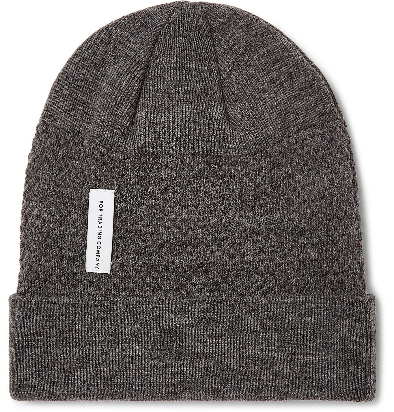 Photo: Pop Trading Company - Mélange Knitted Beanie - Gray