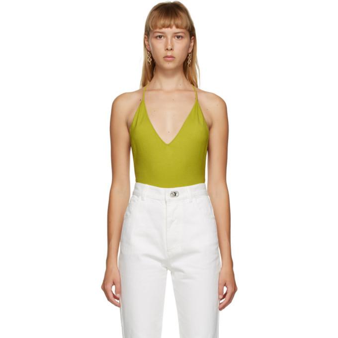 Photo: Bottega Veneta Green Cashmere Bodysuit