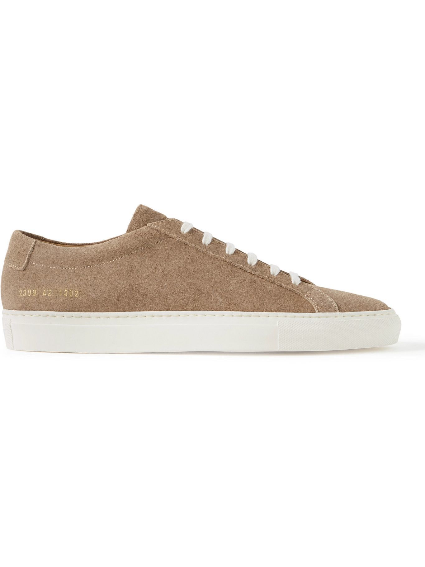 Photo: Common Projects - Original Achilles Waxed-Suede Sneakers - Brown